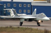 T-50-5 Arrives in Zhukovsky