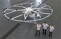 Maiden Flight of Volocopter VC200