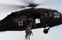 Military Dogs in Hoist Ops Training