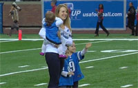 Marine Surprises Wife at Lions Game