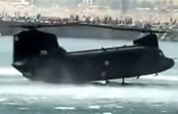 Chinook Performs Cool Water Landing