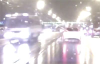 Military Bus Hits Girl in Moscow