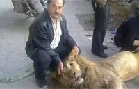 Starving Syrians Eat Lion from Zoo