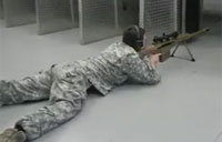 Shooting a Barrett M107A1 Indoors