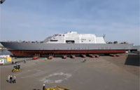 Milwaukee LCS 5 Moves to Launch Site