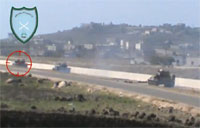 Syrian Rebels Amush Tank Convoy