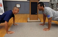 JROTC vs. NFL Hall of Famer in Push ups