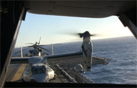 MV-22 Flight to USS George HW Bush