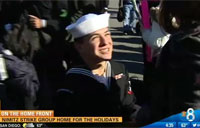 Nimitz Returns Home, Sailor Proposes