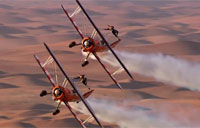 Breitling Wingwalkers Over a Desert