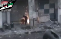 FSA Rebel Hits Himself with Grenade