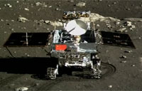 Color Photo of China's Rover on Moon
