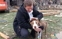 Guardsman, Dog Reunite After Twister