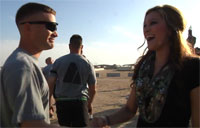 Alaina Blair Visits Soldiers in Kuwait