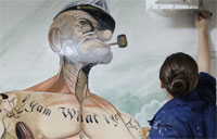 Sailor Paints Epic Portrait of Popeye