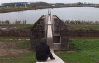 WWII Bunker Sliced in Half for Memorial