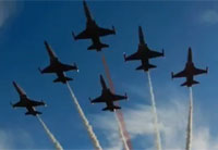Turkish Stars Fast Flyby in F-5 Fighters