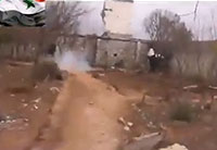 Syrian Rebel Almost Blows Himself Up