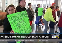 Family, Friends Surprise Soldier at Airport