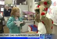 Military Dad Surprises Daughter in Class