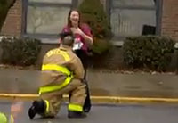 Firefighter Stages Elaborate Proposal