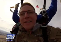 Soldier Surprises Sons from the Sky