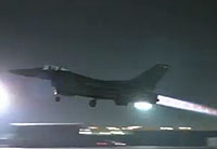 Night F-16 Launch with Afterburner