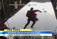 Navy Rescues Family with Sick Baby