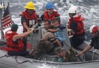 Family Rescued at Sea Responds