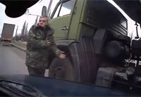 Russian Soldier Has Very Close Call