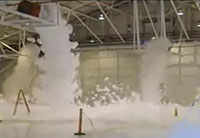 Foam Fills F-16 Hanger in 2 Minutes!