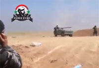Syrian Army Hits Cluster of Militants