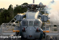 Sikorsky CH-53K Helicopter Ground Test