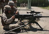 M-240 & 50 Cal Rounds On Target