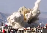 Damascus Bombarded with Air Strikes