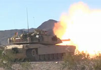 Abrams Tank Fire Day & Night