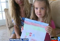 6-year-old Girl Honors Soldiers
