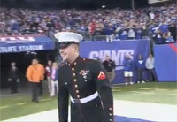 Marine Surprises Family at Giants Game
