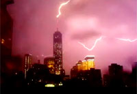 Lightning Strikes One World Trade Center