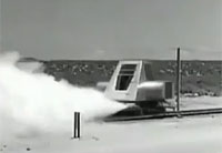Air Force Colonel Rides 600mph Rocket Sled