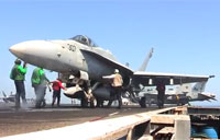 F/A-18 Super Hornets Launched from Carrier