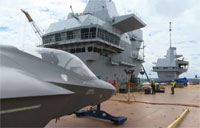 Final Prep to Launch UK Navy's Largest Ship