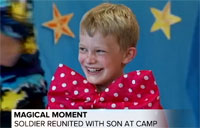 Soldier's Magical Surprise Reunion with Son