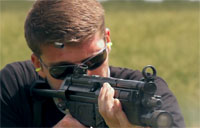 Shooting the MP5 SMG
