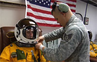 U-2 Pilot Slips into Full-Pressure Suit