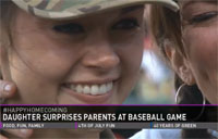 Daughter Surprises Family at Baseball Game