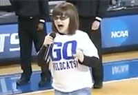 Autistic Girl Rocks the National Anthem