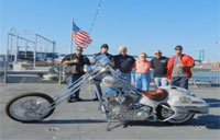 Navy Vet Honors Fallen with Custom Bike