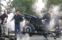 Presidential Salute Battery Practice
