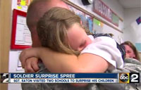 Returning Soldier Goes on 'Surprise Spree'